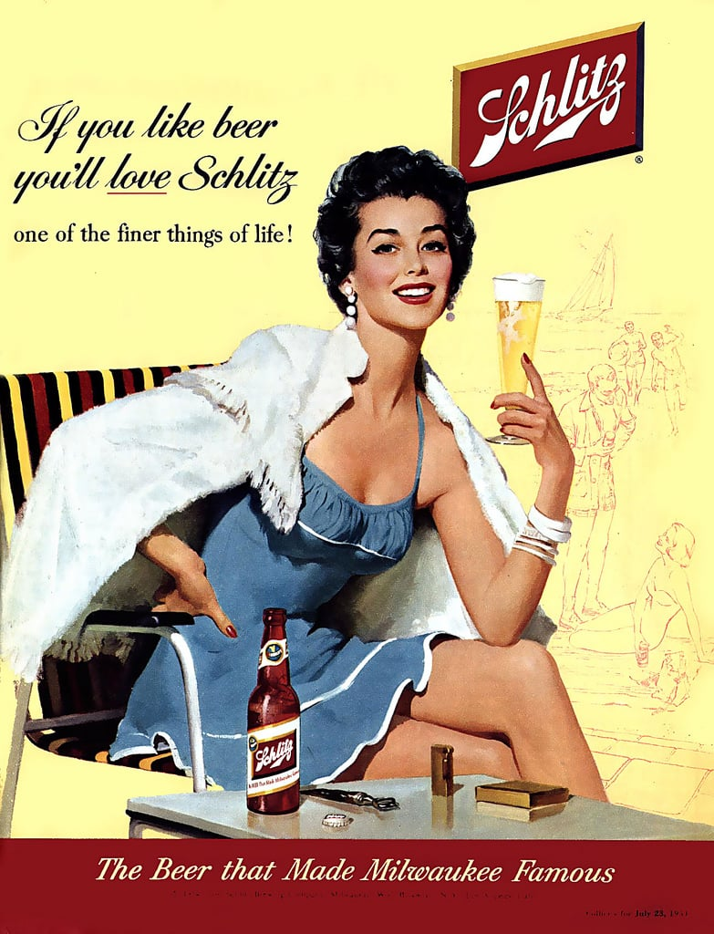 This image has an empty alt attribute; its file name is 1954-ad-says-schlitz-beer-made-milwaukee-famous.jpg